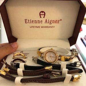 Interchangeable Genuine Leather Watch